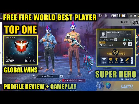 Free Fire Best Global Player Squad Rank Mr Dent Top 1 in 3