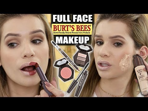 FULL FACE Trying BURT'S BEES Makeup! Is it ANY Good?