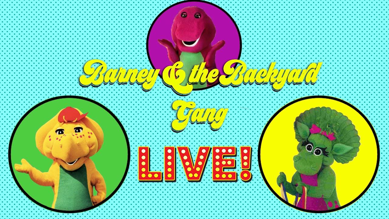 barney u0026 the backyard gang live stage show youtube