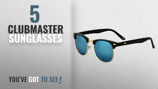 Top 10 Clubmaster Sunglasses [2018]: Royal Son UV Protected Clubmaster Round Sunglasses For Men And