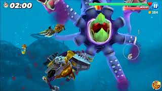 [New] update power up (Unstoppable) vs Colossal Squid - Hungry Shark World