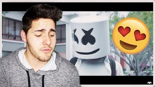 Marshmello - Blocks (official music video) REACTION/MUKBANG