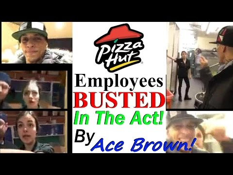 Male and Female Employees BUSTED IN THE ACT in a Back Room of a Pizza Hut in Bristol, UK!