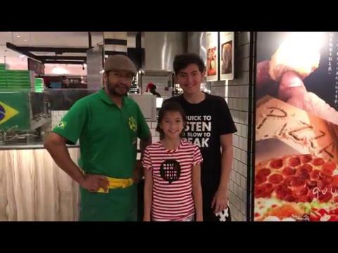 Owen & Ella visit Samba Pizza