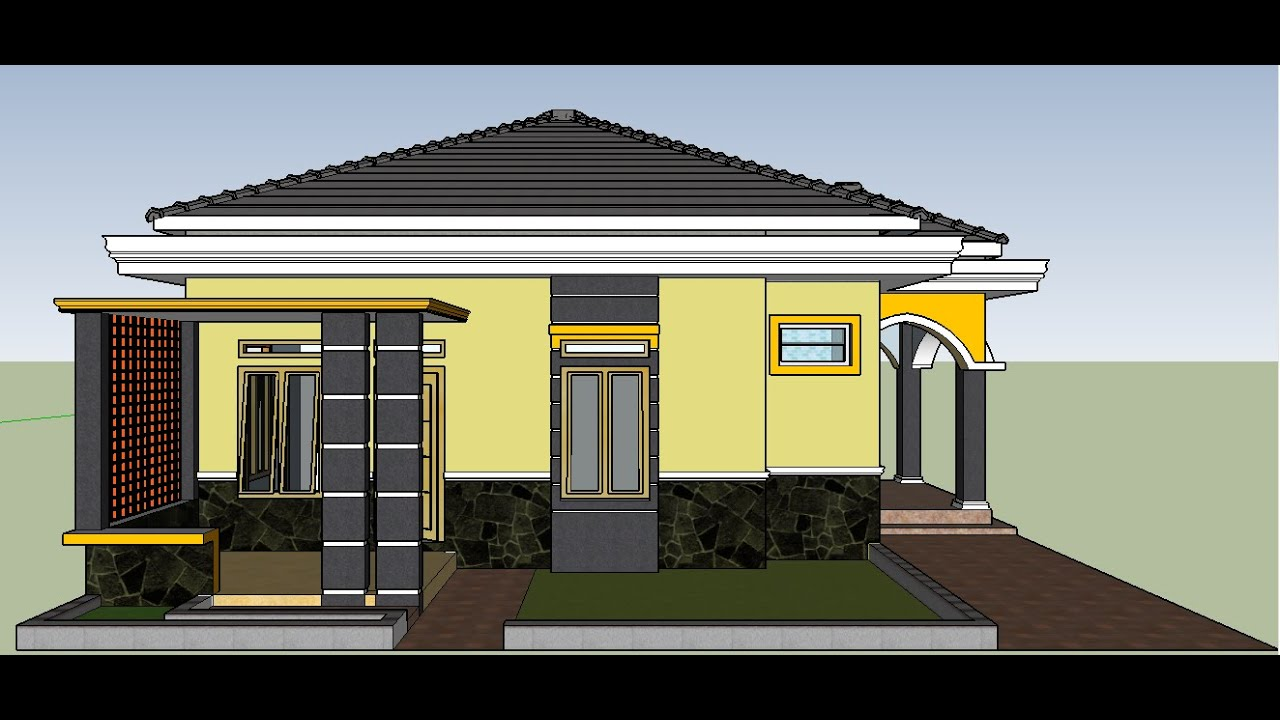 Contoh Perpaduan Model Desain Rumah Mewah Minimalis 8 X 10 Modern Sederhana Atap Limas Youtube
