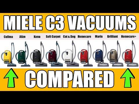 Miele C3 Canister Vacuums Compared Calima Vs Alize Vs Kona Vs Marin Vs Brilliant Vs Cat & Dog