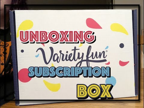 Variety Fun Unboxing  A snack subscription box  Shop with Sarah