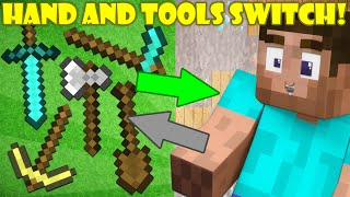 If Your Hand and Tools Switched Places - Minecraft