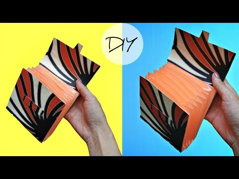 How to make a paper wallet with 7 pockets (EASY WAY) | Origami wallet | Easy paper craft