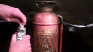 Antique Fire Extinguisher Restoration.