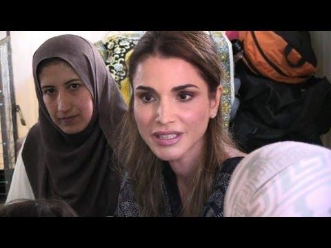 Queen Rania visits Lesbos island