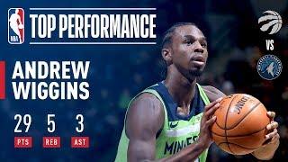 Andrew Wiggins Drops 29 vs The Raptors