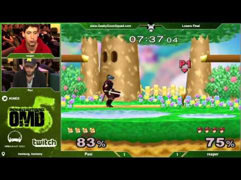 OMD5 - Pasi (Fox) Vs. reaper (Marth) - Losers Final - Super Smash Bros. Melee