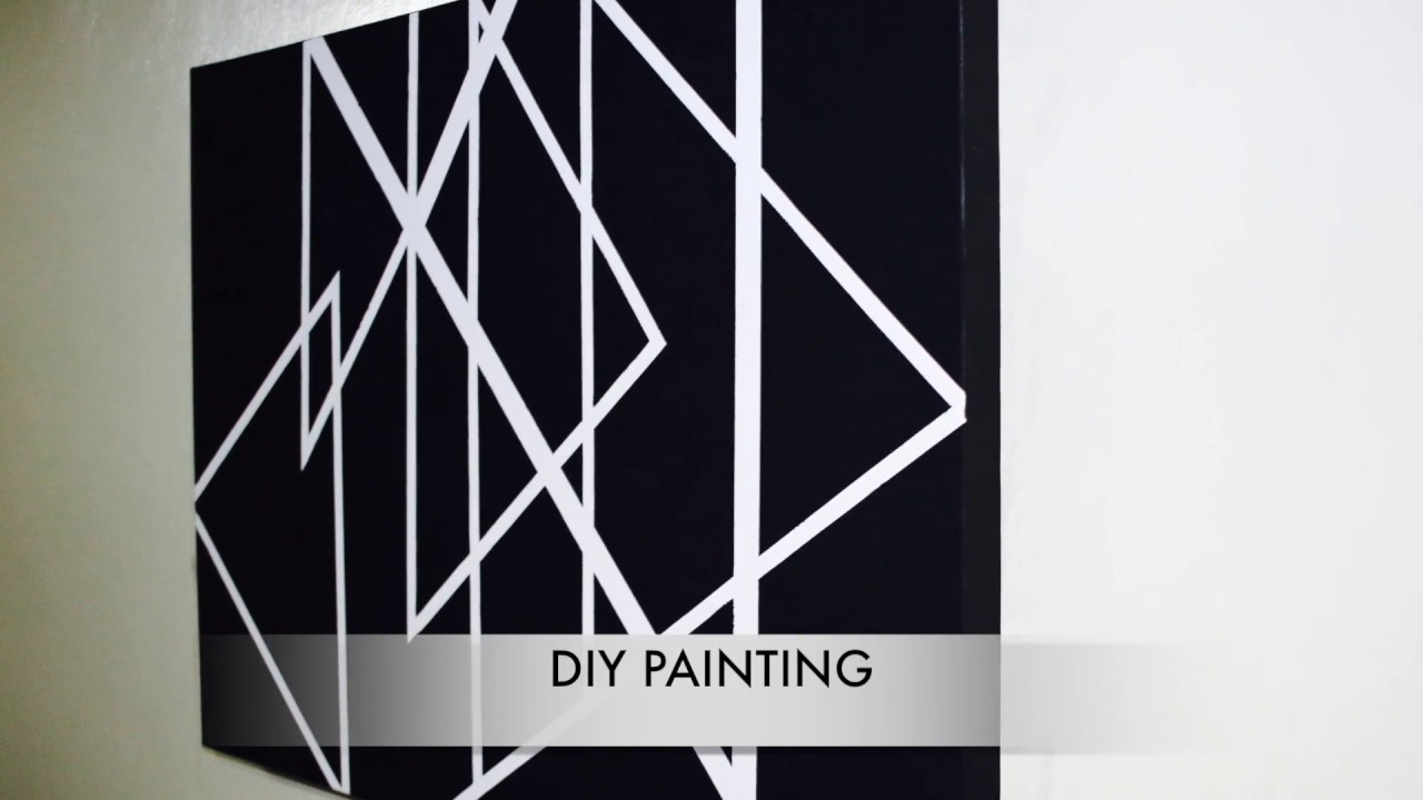 Spray Paint Masking Tape Painting YouTube - Tape painting