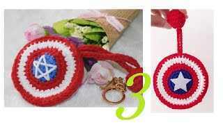 鉤針編織趣味小物 美國隊長鑰匙包 3/3 thumbnail