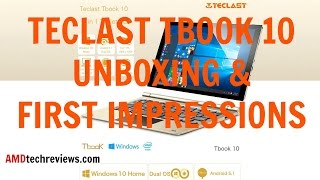 Teclast Tbook 10 Unboxing & First Impressions (4K)