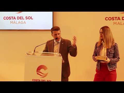 Presentación de Torrox en Fitur 2019 a cargo del alcalde, Óscar Medina, y la edil de Turismo, Sandra Extremera