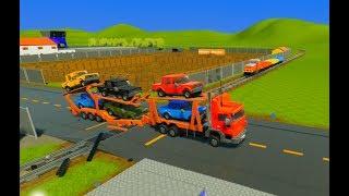 Lego Cars, Hauler, Trucks & Farm Equipment vs. Lego Train - Brick Rigs - Realistic Crashes