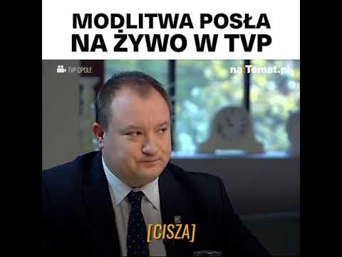 Poseł PiS modli się na żywo w TVP