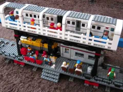 Lego Monorail And Train Youtube