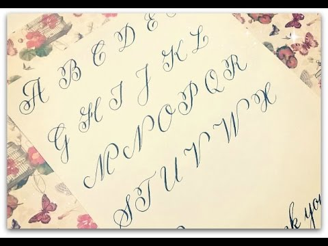 Copperplate calligraphy how to write calligraphy letters Calligraphy youtube