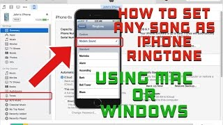 How to:  Set any song as iPhone ringtone using MAC or Windows