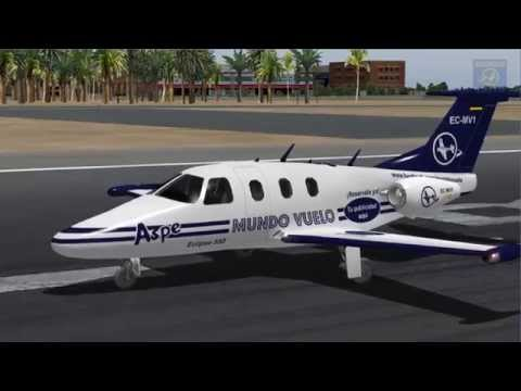 Vuelo completo instrumental VOR-NDB con aterrizaje NDB - Alicante - Barcelona