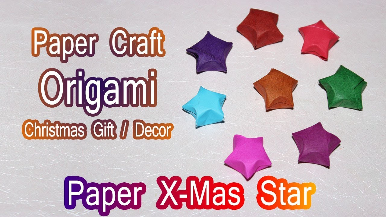 Christmas Star making with Paper | Christmas Tree Decorating Ideas |  Christmas Gifts DIY | Xmas Gift