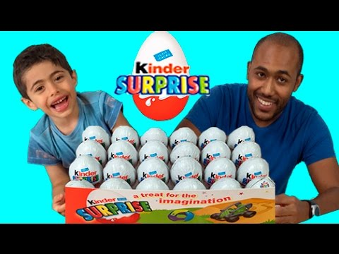 Kinder Surprise Eggs Unboxing Challenge Fail New 2015 Opening Of Toys and Fight After Unwrapping