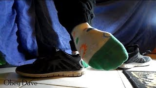 Young Male Socks Toe Wiggling