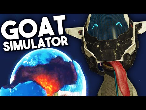 DESTROYING THE EARTH WITH LAZAR BEAMS! - Goat Simulator: Waste of Space DLC |