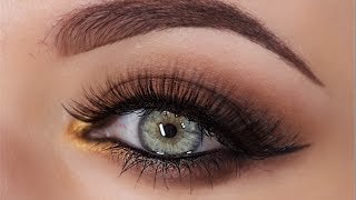 Smokey Brown with a pop of Gold