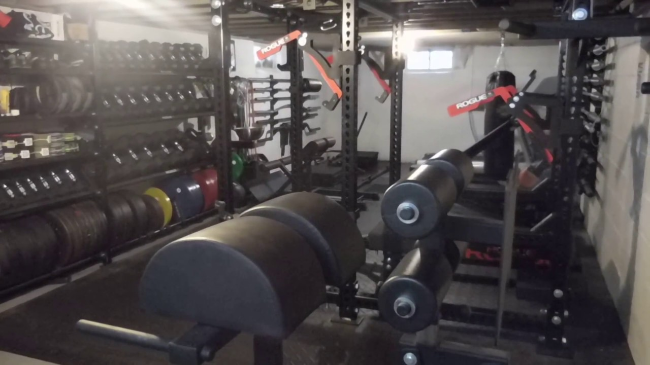 Th evolution of rogue home basement powerlifting gym