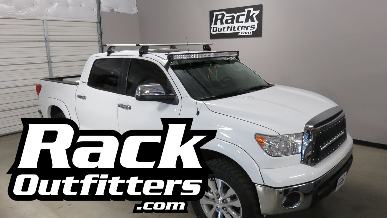 Toyota Tundra CrewMax With Rhino Rack Vortex 2500 Roof Rack Crossbars    YouTube