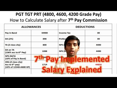 7th Pay commission Salary   PGT TGT PRT Salary after 7th Pay Commission   KVS new Salary Structure
