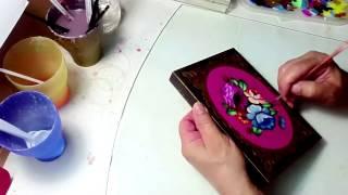 Роспись шкатулки акрилом - Hand Painted Wooden Jewelry Box