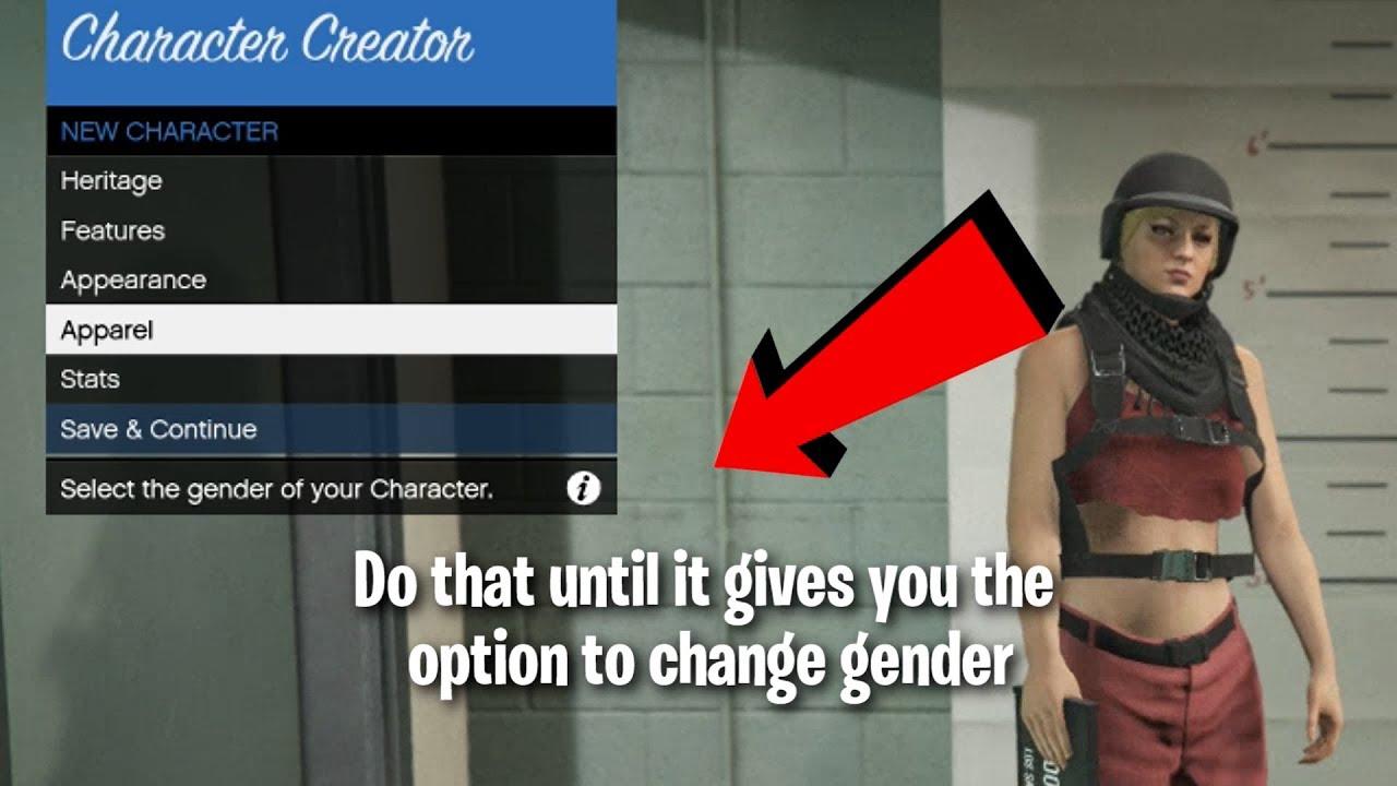 How to change sex in gta 5 online