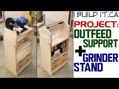 Making Grinder Stand Outfeed Stand