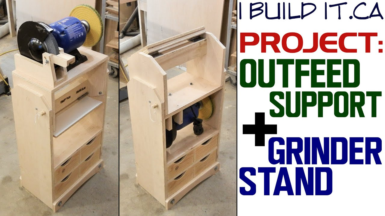 Making A Grinder Stand Outfeed Stand Youtube