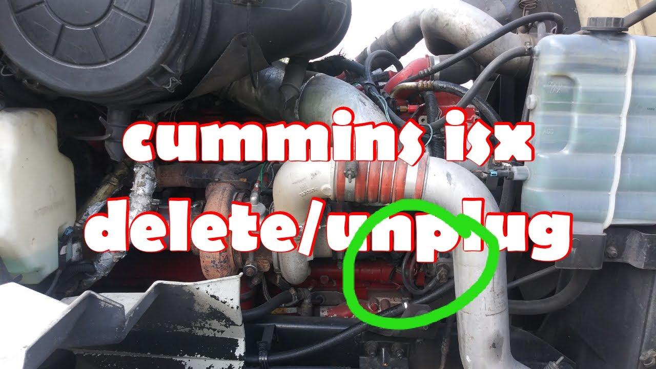 Cummins isx egr unplug/ egr delete free