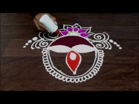 panati * diya rangoli design by gauri    Navratri # dasara  # diwali special rangoli design