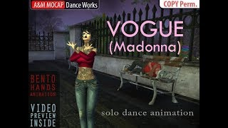 SL - Madonna Vogue - solo dance for Second Life (Bento)