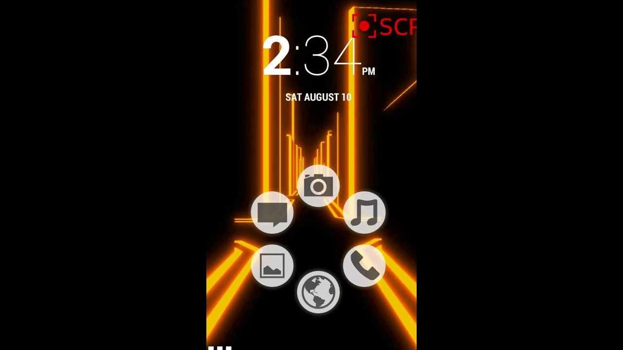 Smart Launcher Home Screen Modified Ubuntu Theme With Electron City Live Wallpaper