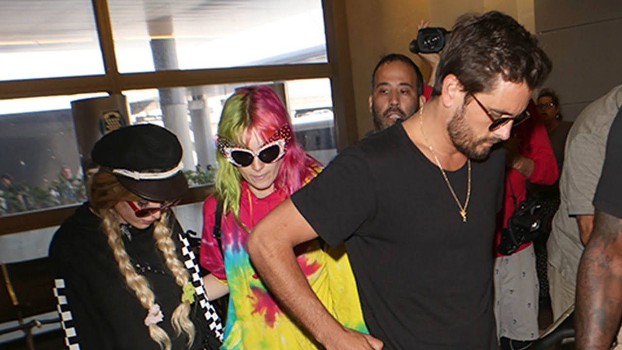 Scott Disick, Bella Thorne spotted together at LAX