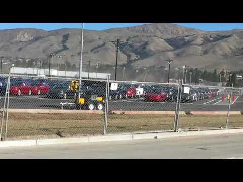 Tesla Model 3 Parking Lot Fremont factory 12/16/2017 - YouTube