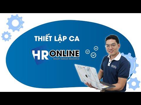 Thiết lập ca - phần mềm quản lý nhân sự HrOnline