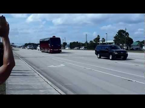 "President Obama ""Ground Force One""  09-09-2012 In Stuart, Florida. Jensen Beach, FL 34957 POTUS"