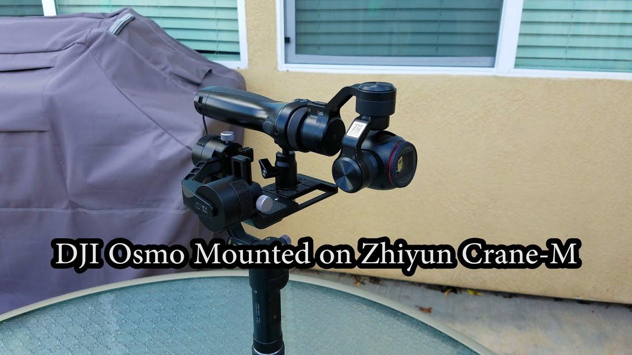 Dji Osmo Mounted On Zhiyun Crane M Gimbal What Happens Youtube Tripod Pole For 3axis Smooth Q 3