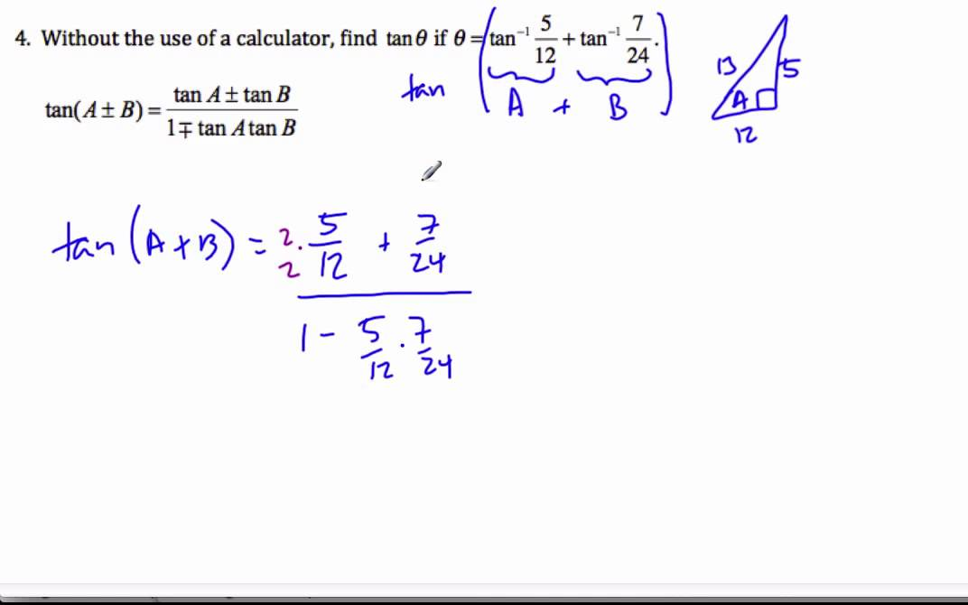 IB Math HL - Solving Trigonometric Equations 5 - Compound Angle ...