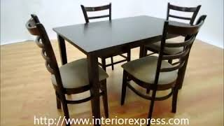 Interiorexpress Lanark Dark Brown 5 Piece Modern Dining Set